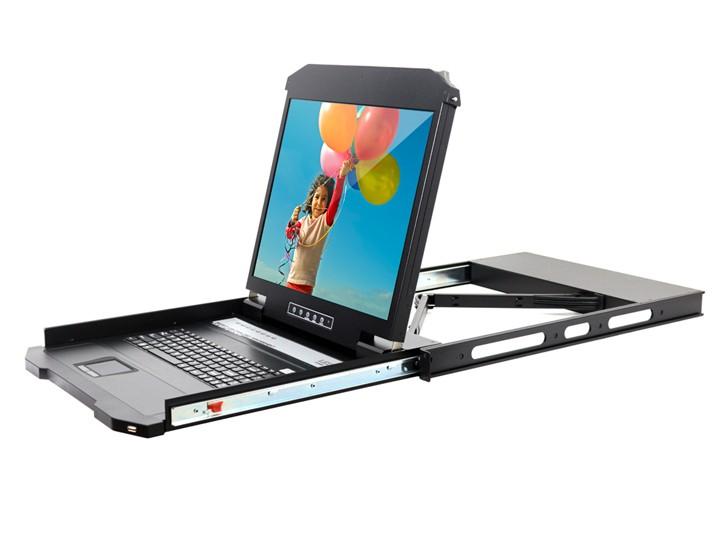 宜坤(EAKUN)19寸16口LCD KVM,支持外接键鼠