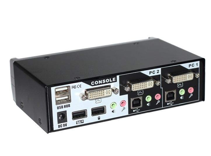 宜坤(EAKUN)2口DVI KVM切换器